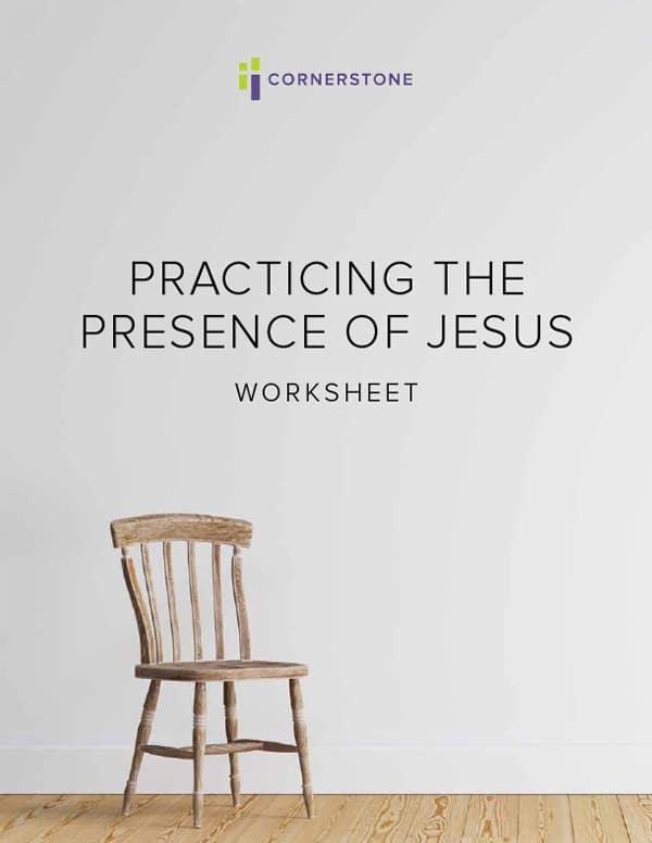 Practicing the Presence of Jesus Worksheet