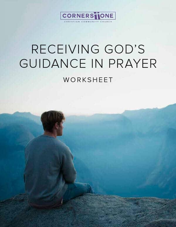 Receiving God's Guidance in Prayer
